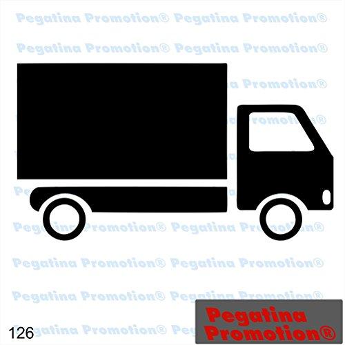 Piktogramm Typ 126 Icon Symbol Zeichen LKW Truck Fahrzeug Transporter Spedition Auslieferung Versand Aufkleber Sticker ca.15cm von Pegatina Promotion® Aufkleber mit Verklebehilfe von Pegatina Promotion® ohne Hintergrund geplottet