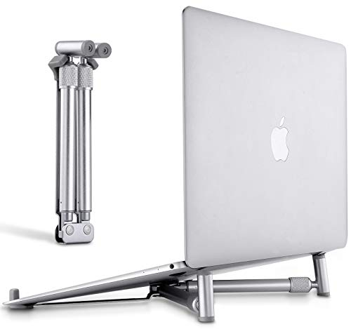 YLJJ Soporte para computadora portátil, Soporte Ajustable de Aluminio Plegable ergonómico refrigeración portátil 14 a 17 Pulgadas