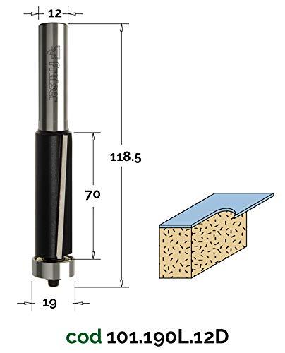 Holz Fräse für Oberfräse Industrielle Hochleistungs-Bündigfräser - D 19 / I 70 / S 12 - Fraiser