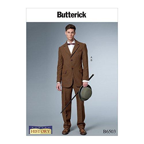 Vlinder patronen 6503 MQQ, heren kostuum, maten 46-52, Tissue, Multi-Colour, 17 x 0.5 x 22 cm