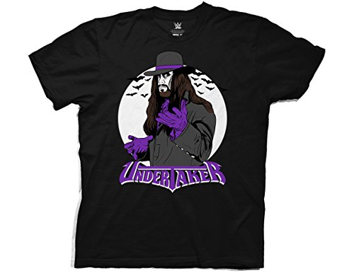 Ripple Junction WWE Vintage Undertaker with Logo Adult T-Shirt XL Black