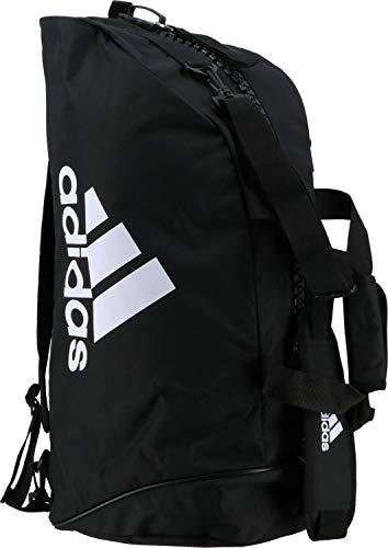 adidas trainingssporttasche 2-in-1 schwarz/weiß 83 Liter