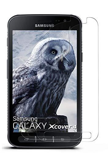 MoEx® Kristallklare HD Schutzfolie passend für Samsung Galaxy Xcover 4   Premium Bildschirmfolie - Kratzfest & Fast unsichtbar - Ultra Klar
