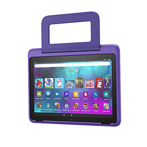 Amazon Kid-Friendly Case for Fire HD 10 tablet (Only compatible with 11th generation tablet, 2021 release), Doodle