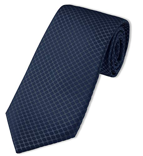 Chevalier strukturierte XXL-Krawatte | extra lang, Seide (Dunkelblau)