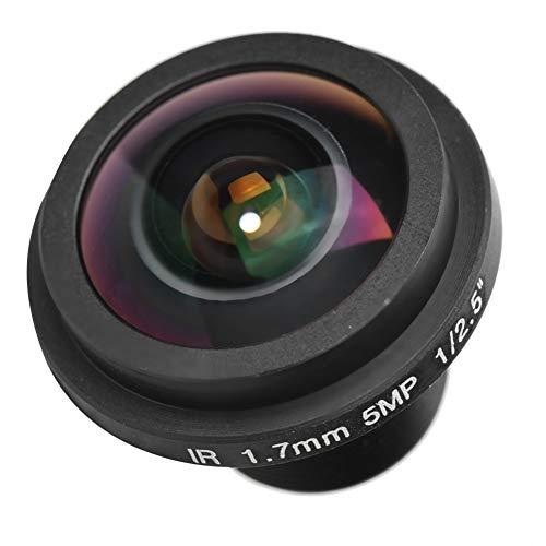 HD 5MP Cámara de seguridad, Lente de cámara CCTV Fisheye con longitud focal de 1,7 mm, Lente gran angular de 170 °