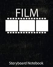 Storyboard : film Notebook & Journal :Storyboard Template :Cinema Notebook:Black: (8