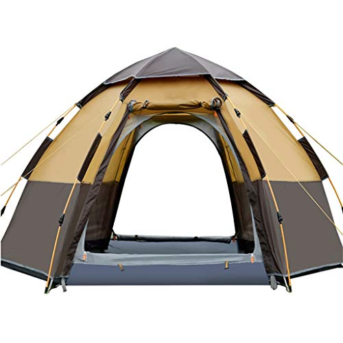 JANSUDY Portable Tent, Also Ideal For Camping In The Garden, Lightweight Camping And Hiking Tent, 100 Percent Waterproof HH 3000 Mm, Sewn-in Groundsheet 4 To 6 Man Festival Dome Tent