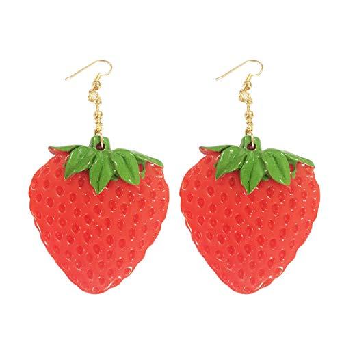 Dames Oorbellen Acryl Fruit Lange Bengelen Oorbellen Ananas Peper Citroen Mode-Sieraden Hanger Oorbellen