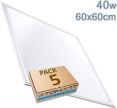 (LA) Pack Panel LED Slim 60x60cm, 40W, 3000 lumenes Reales certificados. (Blanco Frio (6500K), Pack 5x)
