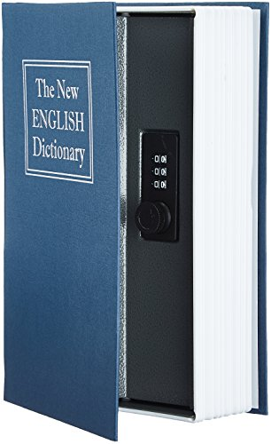 AmazonBasics Book Safe, Combination Lock, Blue