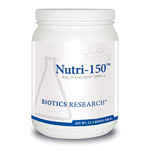 Biotics Research Nutri-150™ – Great-Tasting Meal Replacement Powder. Supplies Optimal Balance of Protein and Fiber. Low Carb. High Fiber. Probiotics Added. Gluten Free 23.5 oz (660 g)