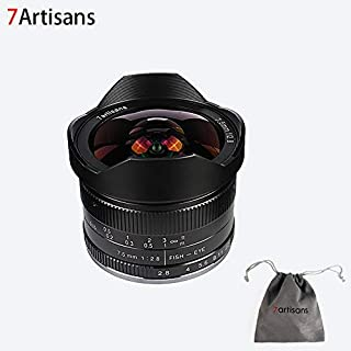 7artisans 7.5mm F2.8 APS-C Wide Angle Fisheye Fixed Lens for Compact Mirrorless Cameras Panasonic Micro 4/3 MFT Mount G1 G...