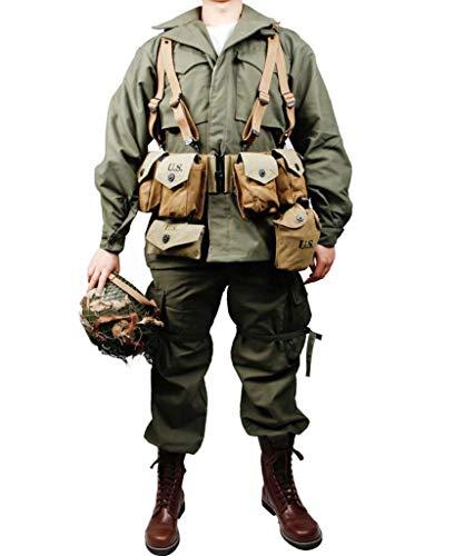 WW2 US Army M43 Uniform- M1 Equipment Set Replica Leather Boots with M1 Helmet Outdoor Tactical Jacket Pants Soldat Equipment Set