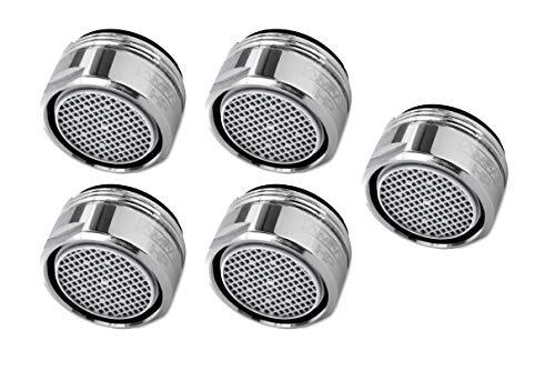 AMFAG M24x1 Strahlregler 5er Set für reduzierten Wasserverbrauch - Premium Sparstrahlregler mit Außengewinde - Wasserhahn Aufsatz