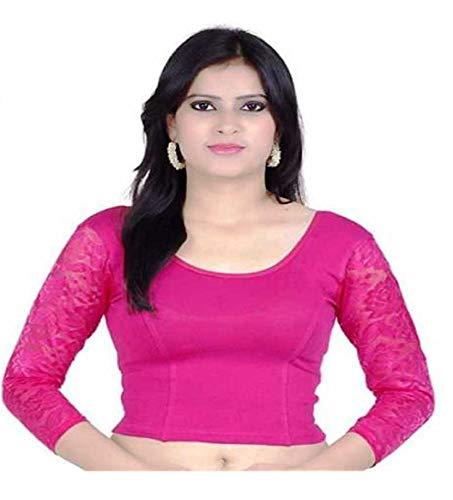 Indianstore24 Blouse Bluse Saree Bollywood Wedding Hochzeit Sari Kleid Damen Indian ganz Casual Birthday Crop top fertig genäht Readymade gestickt Dehnbar Stretchable Material Women Party wear Readymade indisch