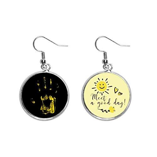 Halloween Horror Print Art Deco Gift Fashion Ear Drop Sun Flower Earring Jewelry Fashion