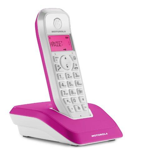 Motorola Startac S1201 DECT Schnurlostelefon (Analog, Freisprechen, ECO-Modus, Displaybleuchtung auf Gerätefarbe abgestimmt) pink