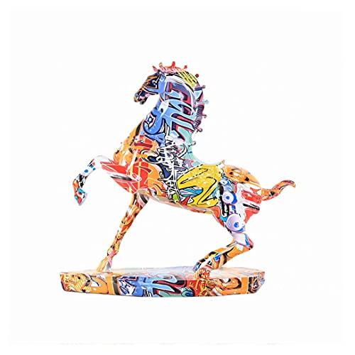 SHUTING2020 Estatuas Moderna Luz Creativa Color De Lujo Caballo Decoracin De Escritorio Caballo para xito Sala De Estar Oficina Estudio Decoracin Regalo Estatua de la Estatua de Feng Shui