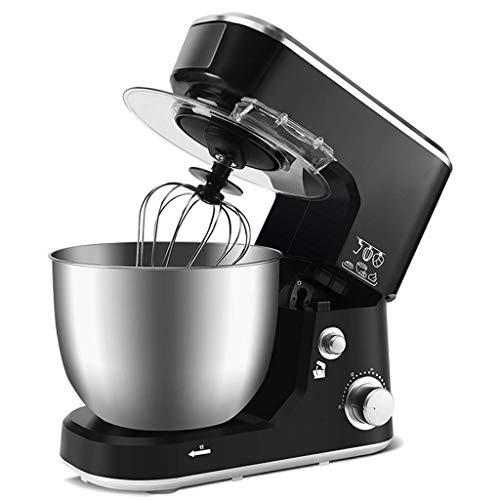 ZTMN sbattiuova,Miscelatore da appoggio in Acciaio Inossidabile Multifunzione per Cucina Domestica Completamente Automatico Frullino per Le Uova/Impastatrice (Colore: Nero, Dimensioni: 33,9 * 2