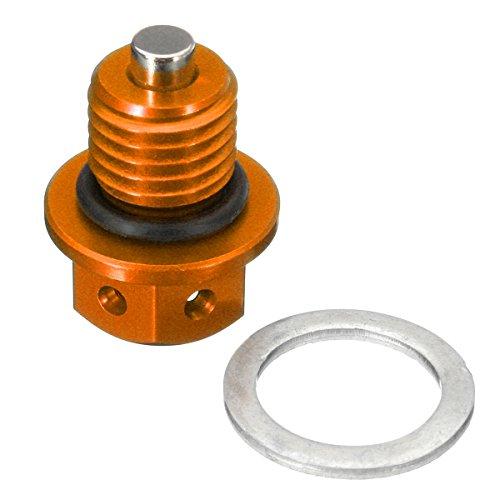 C-FUNN M12X 1.5 Tappo di Scarico Olio CNC per KTM 690 Duke 09-16 450 505 525 SX/XC ATV Dirt Bik - Arancione