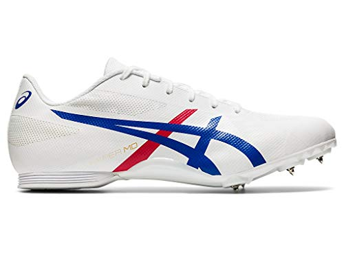ASICS Hyper MD 7 Unisex Track & Field Shoe (White/Classic Red, 11 M US)