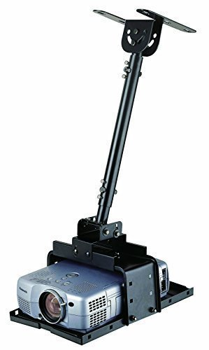 Elitech Universal Extendable Ceiling Projector Mount 20 to 27.6 inch Drop Height Adjustable, Extendable up to 71 inch With Optional Extension Pole...