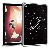 Yoedge Funda para Huawei Mediapad M5 Lite 10,1, Carcasa Silicona Gel TPU Transparente con Dibujos Diseño Case Cover Antigolpes Piel de Protector Tableta para Mediapad M5 Lite 10,1', Tierra