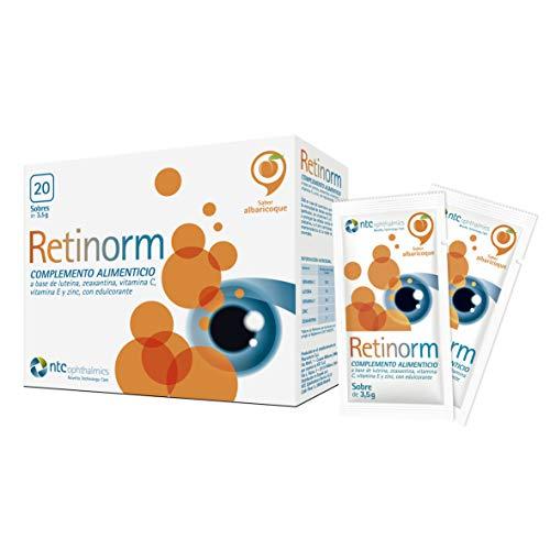 NTC Pharma - RETINORM sobres (20) - Complemento alimenticio con vitaminas y minerales para la vista