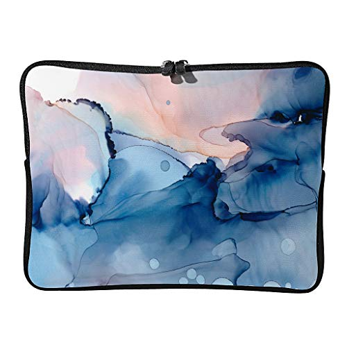 Regular Marble Texture Laptop Bags Waterproof Novelty Modern Style Tablet Bags Suitable for Work White 15 Zoll