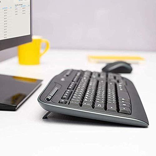 Logitech MK330 Kabellose Tastatur und Maus, USB, lange Akkulaufzeit, kompatibel mit Windows und Chrome OS - QWERTZ deutsches Tastaturlayout - Schwarz (Generalüberholt)