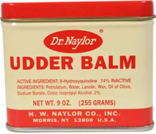 Dr Naylor Udder Balm 9 oz  Traditional Antiseptic Moisturizing Ointment