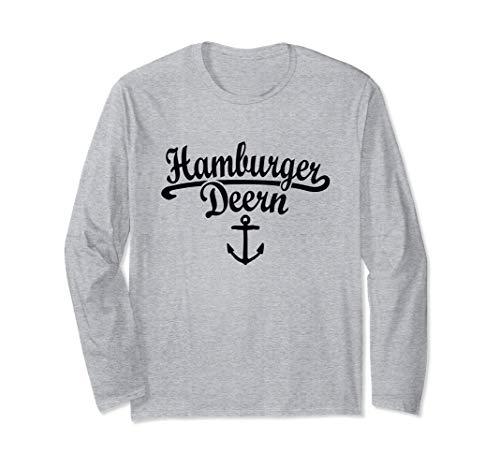 Hamburger Deern Klassik (Schwarz) Hamburg Langarmshirt