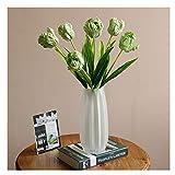 Kunstblumen Künstliche Blumen Floral Desktop Schlafzimmer Hotel Dekorationen Simulation Papagei Tulpe Floral Wohnzimmer Ausstellung Halle Shooting Requisiten Gefälschte Blumen Künstliche Blumensträuße