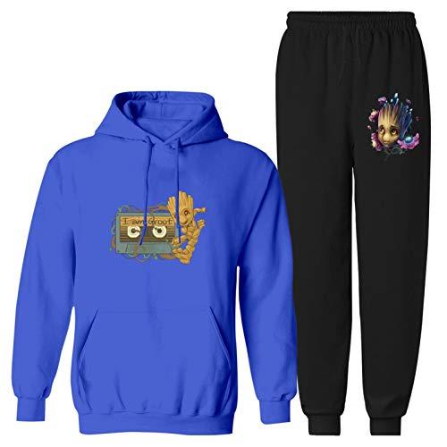 Galaxy G-ro-ot 2 piezas Juvenil Sudadera con capucha y sudadera de manga larga Chándal para niños y niñas