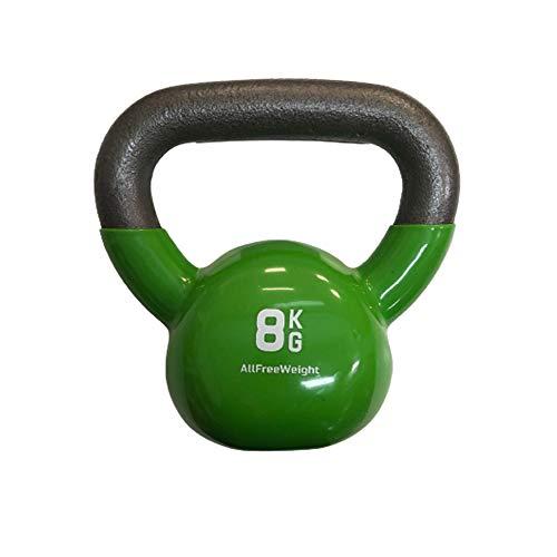 Kettlebell (8 kg). Kettlebell Workout per la competizione, crossfit di vinile. Kit Pessi Fitness Training per uomini e donne. Pessi palestra in casa. KOTTAO