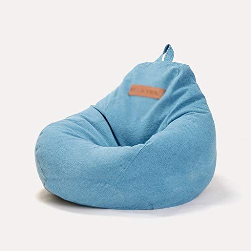 puff Puffs for Niños Juegos Descargas digitales de asiento de la silla del bolso de haba Sofá con relleno Lazy Tumbona for uso al aire libre de interior Hogar Jardín ( Color : Blue , Size : 50*70cm )