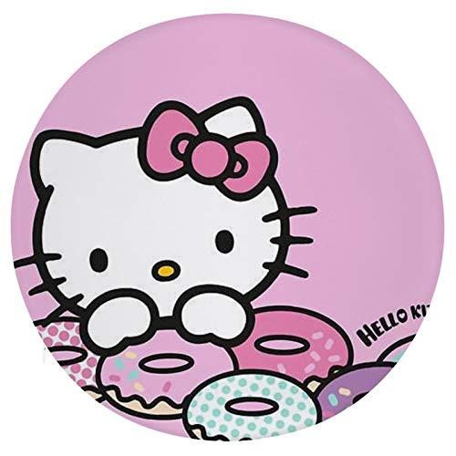 Cojín Cojín de Asiento de Espuma viscoelástica Redondo Hello Kitty Love Dounts Cojín súper Acogedor Cojín Suave para Interior