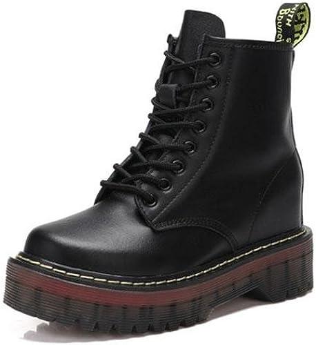KESI botas, zapatos de mujer, estilo clásico, europeo y americano, cuero, botas Martin, botas de cuero salvajes, casuales, altas,