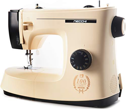 Necchi KM417A New Mirella - Máquina de coser con 17 puntos de costura, exclusiva, fácil de usar para principiantes, grapadora automática de casa, costura creativa, profesional, eléctrica