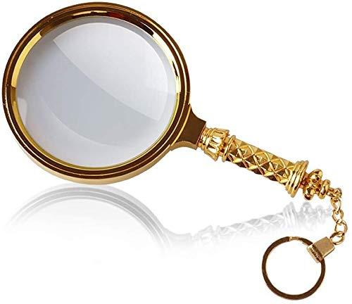 HJXSXHZ366 Halten Lupe Alte Kinder alle Metall HD 10-Fach optische Lupe Handlese lesen Identifizierung kein Licht emittiert