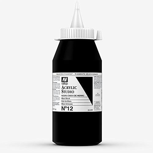 Vallejo : Studio Acrylic Paint : 1000ml : Mars Black