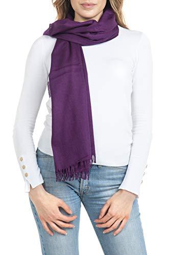 GIULIA BIONDI 100% Made in Italy Sjaal Wol Zijde Hoofddoek Shawl Wrap Elegante Lange Dames Heren
