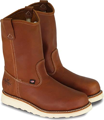Thorogood 814-4208 Men's American Heritage 11' Wellington, MAXWear Wedge Non-Safety Toe Boot, Tobacco Oil-Tanned - 14 D(M) US