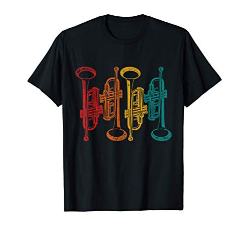 Regalo Para Trompetista Instrumento Musical Retro Trompeta Camiseta