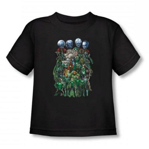 Green Lantern - - Tout-petit corps Tir Croupe T-shirt In Black, 4T, Black