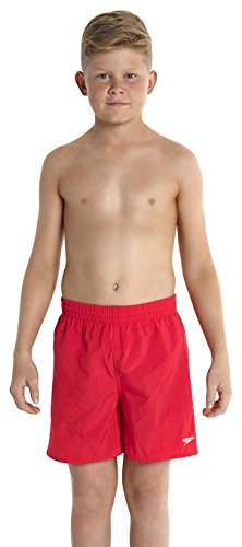 Speedo Jungen Watershorts Solid Leisure 15 Zoll, Fed Red, 140