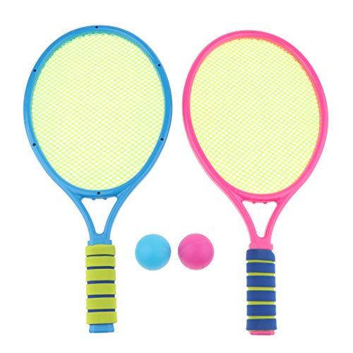 Kinder Softball Tennis Set, inkl. 2pcs Tennisschläger und 2pcs Bälle. - B