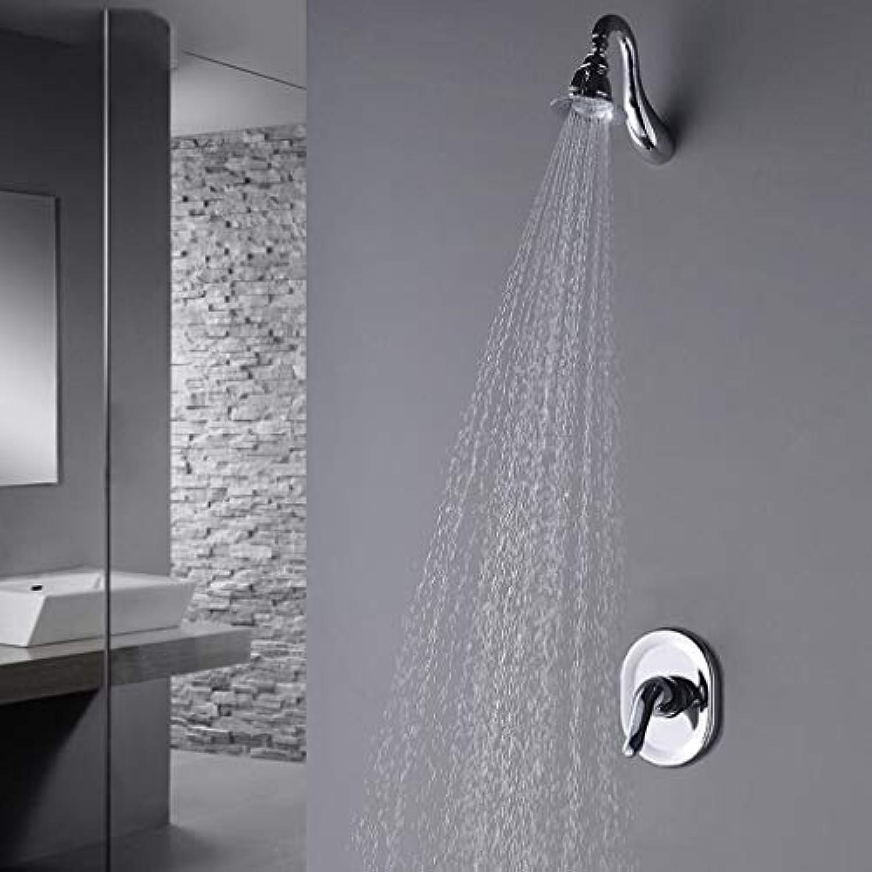 Duschset Europisches Unterputz-Duschsystem aus Vollkupfer, an der Wand befestigter Kalt- und Warmwasserhahn (gre   A)