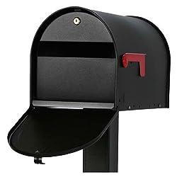 Amerikanischer Briefkasten abschließbar, schwarz
